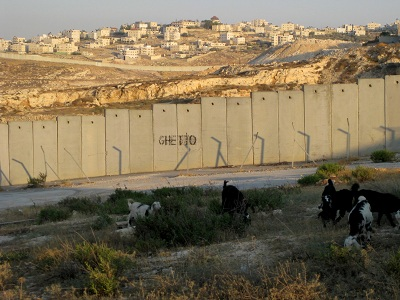 Israeli wall built on Palestinian land occupied since 1967. (Photo: Tamar Fleishman)