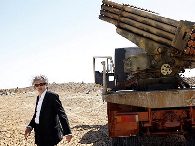 Bernard Henri Levy in Libya during the war.