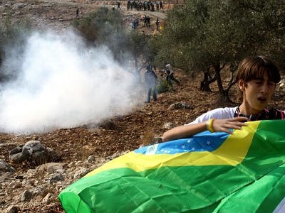 Tear gas in Bil'in. (Supplied)