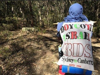 Marcelo's BDS mission to walk over 300 kms from Sydney to Canberra. (Supplied)