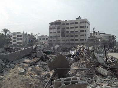 Gaza after Israel's latest war in the summer of 2014. (Ahmad Dalloul, IRIN)