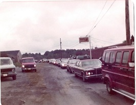 The mock funeral procession departing from the Arab-American Community Center of Youngstown, Ohio. (Supplied)