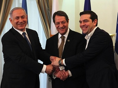 Cyprus and Greece agreed in the summit to market Israeli gas in Europe. (Courtesy: Ekathimerini.com)