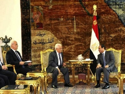 Al-Sisi is supporting Netanyahu against Palestinian resistance, he is also dealing a harsh blow to PA President Mahmoud Abbas. (MENA)