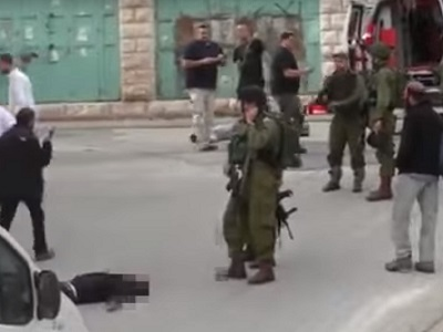 Second Palestinian killed alongside al-Sharif was also shot in the head execution style. (Photo: Video grab)