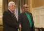 President Jacob Zuma and Mahmoud Abbas meet for bilateral talks. (Photo: Veooz)