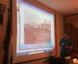 Dr. Abushmees lecturing about the history of Gaza. (Photo: Yousef Aljamal, The Palestine Chronicle)