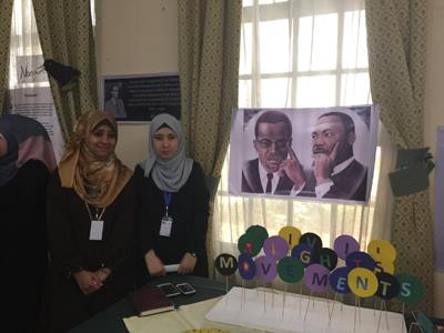 African American Literature displayed at the American Literature Day, Gaza (Photo: Yousef Aljalaml, the Palestine Chronicle)