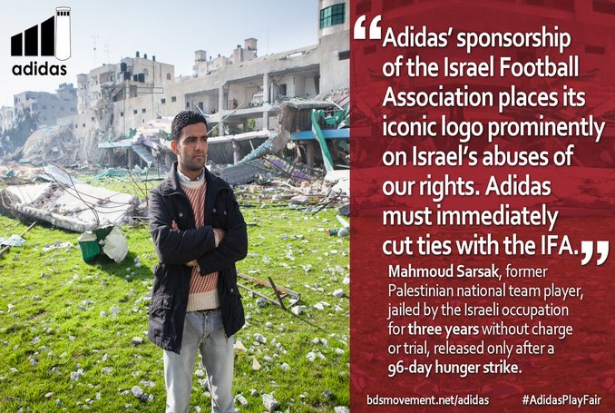 3023a5004f Over 130 Palestinian Sports Clubs Urge Adidas  End Sponsorship of Israel  Football Association