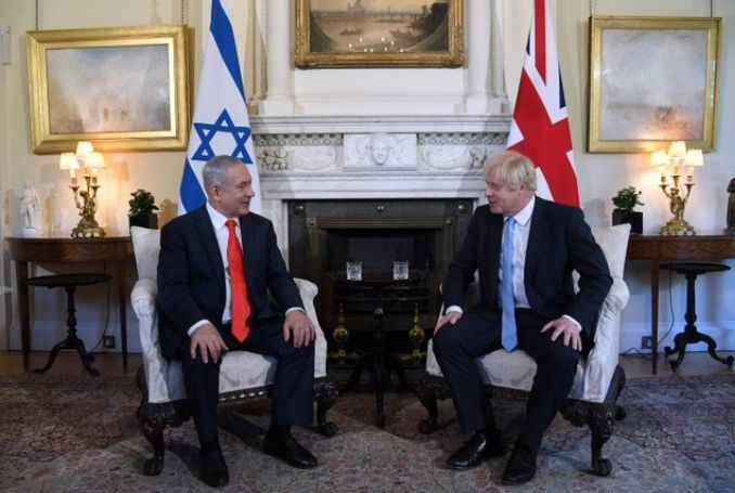 Netanyahu Visits UK PM Boris Johnson (VIDEO) – Palestine Chronicle